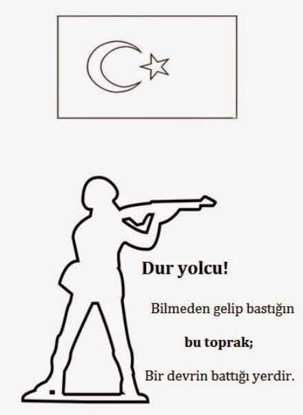 18 Mart Canakkale Zaferi Boyama Sayfalari Dersteknik Com