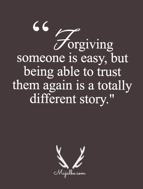 Forgiving isn't Hard