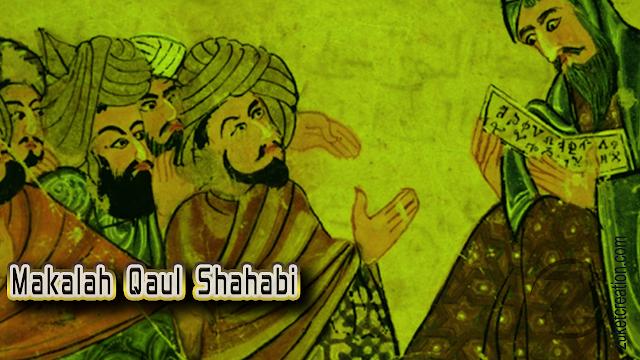 Makalah Qaul Shahabi