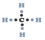 estructura de lewis del metano