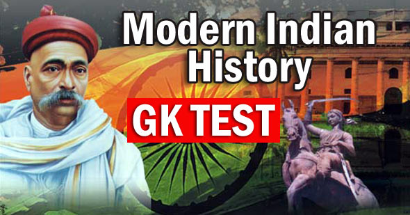 modern indian history test