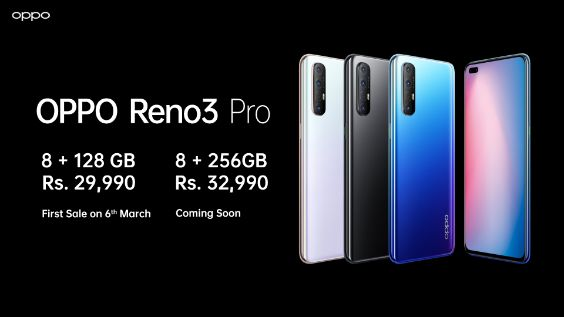 OPPO Reno3 Pro Specs, Features and Price in India