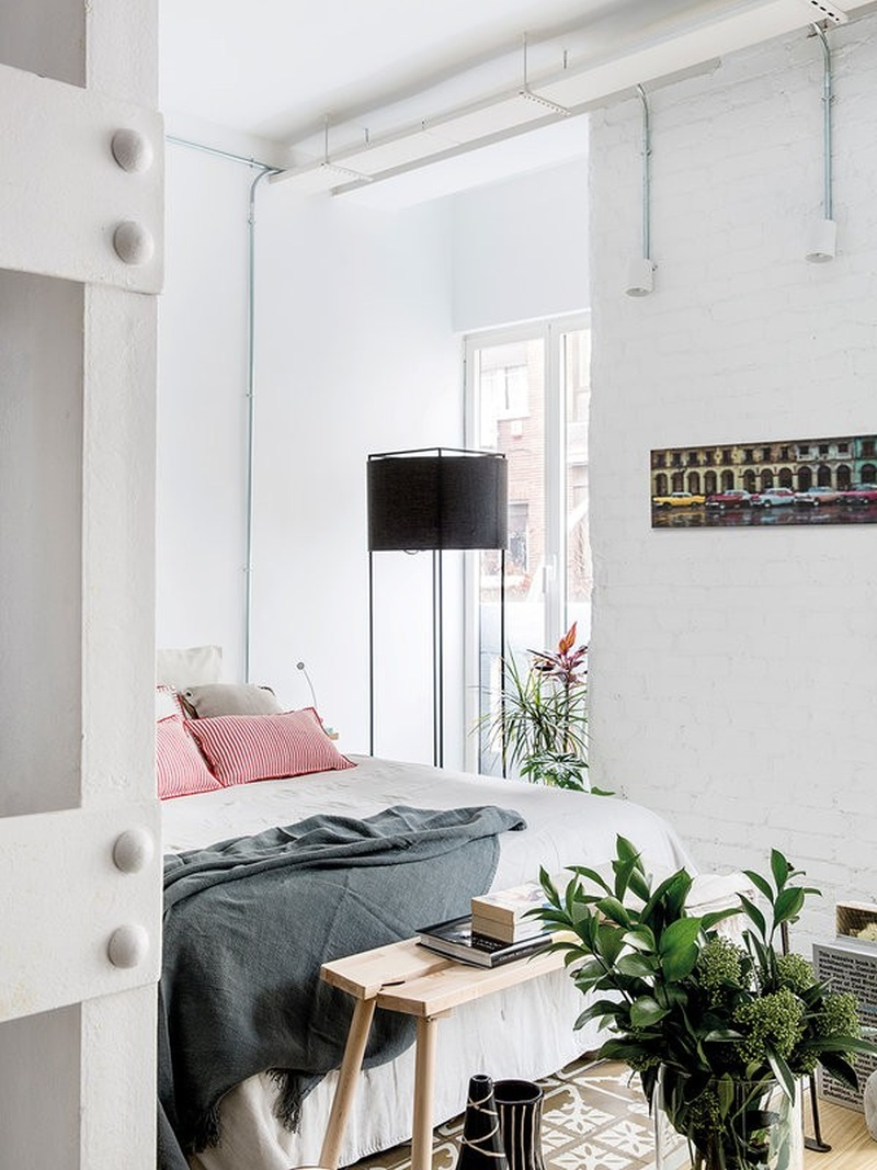 Loft moderno in stile bohémien a Madrid