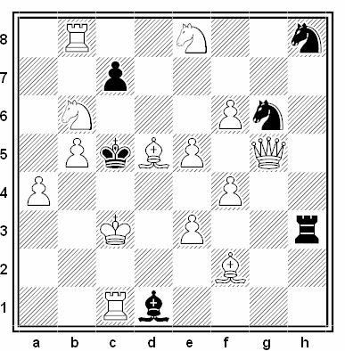 Problema de mate en 2 compuesto por Almiro Zarur (1º Recomendado, U.B.P. 1990-91)