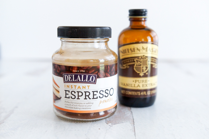 espresso powder and vanilla