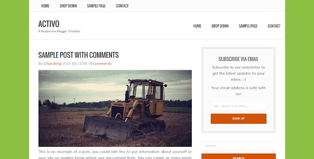 Activo - A Responsive Blogger Template