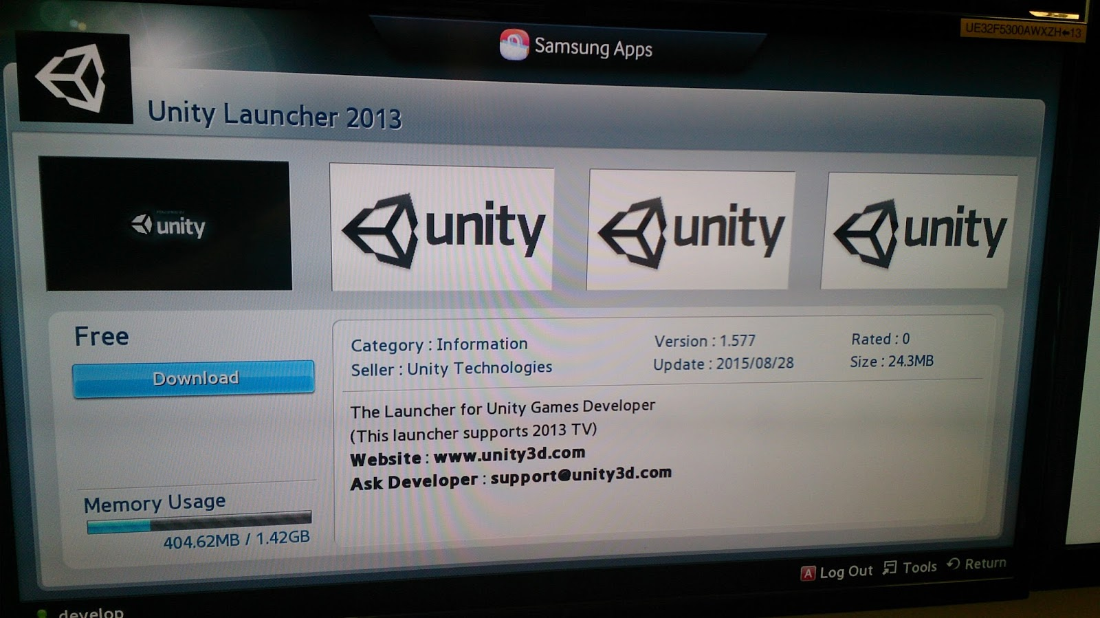 Unity for Dummies: Samsung SmartTV?