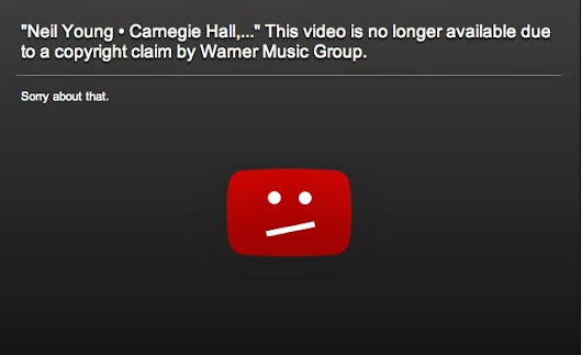 Director's response to Warner Music Group's removal of Neil Young at Carnegie Hall Video