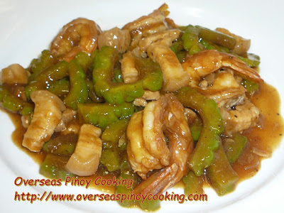 Prawn and Pork Ampalaya in Oysters Sauce