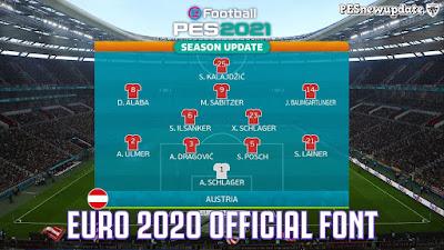 PES 2021 UEFA EURO 2020 Official Font by Papijonnnn