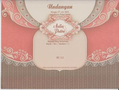 Undangan Pernikahan Elegant dan Murah - HC-111