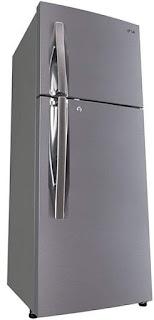 LG 260 L 4 Star Frost Free Double Door Refrigerator(GL-I292RPZL.APZZEBN, Shiny Steel, Inverter Compressor)