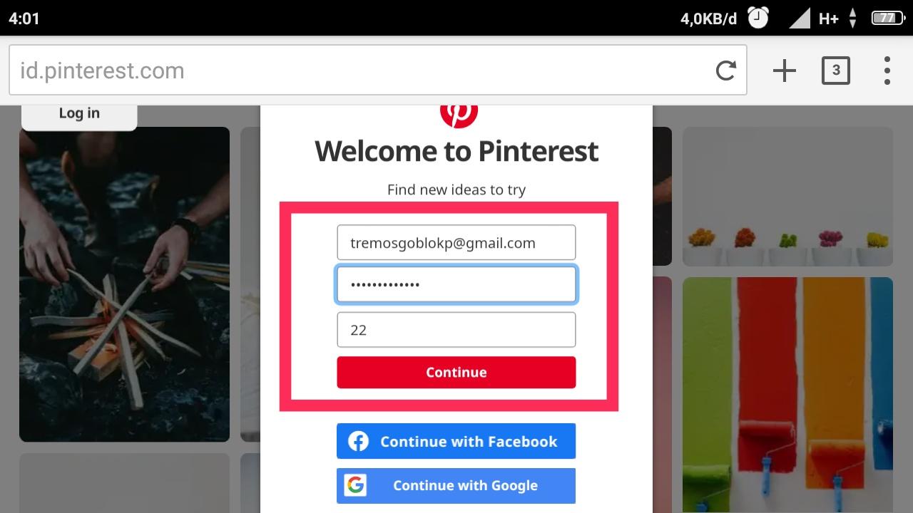 Tips Cara Daftar Pinterest mudah