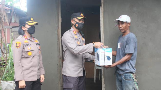 Bhayangkara Peduli, Polres Bengkalis Renovasi Rumah Pemulung Renta
