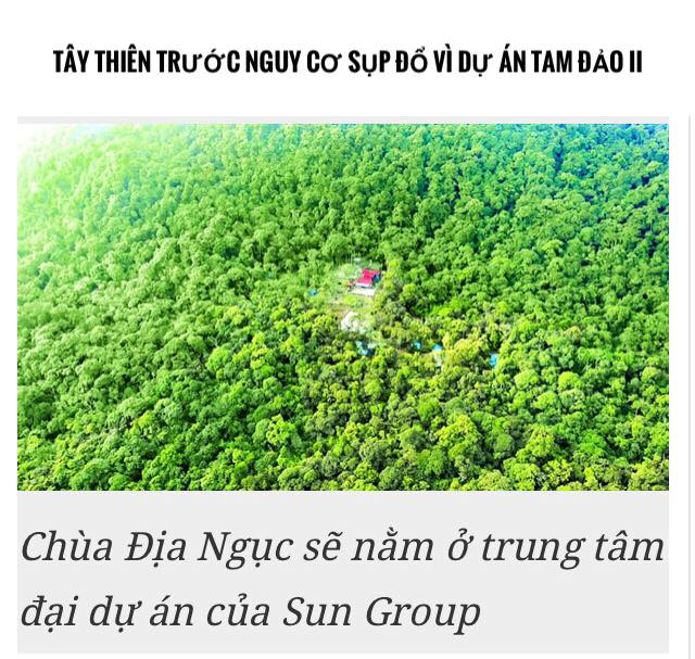 Chùa Địa Ngục sẽ nằm ở trung tâm đại dự án của Sun Group Tam Đảo