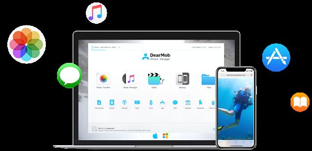طريقة عمل باك اب الايفون والايباد من الكمبيوتر DearMob iPhone Manager