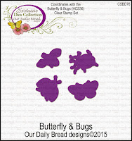 Our Daily Bread designs Custom Butterfly and Bugs Dies