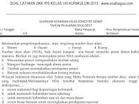 Soal UKK/ UAS IPS Kelas 8 SMP/ MTs Semester 2 Kurikulum 2013