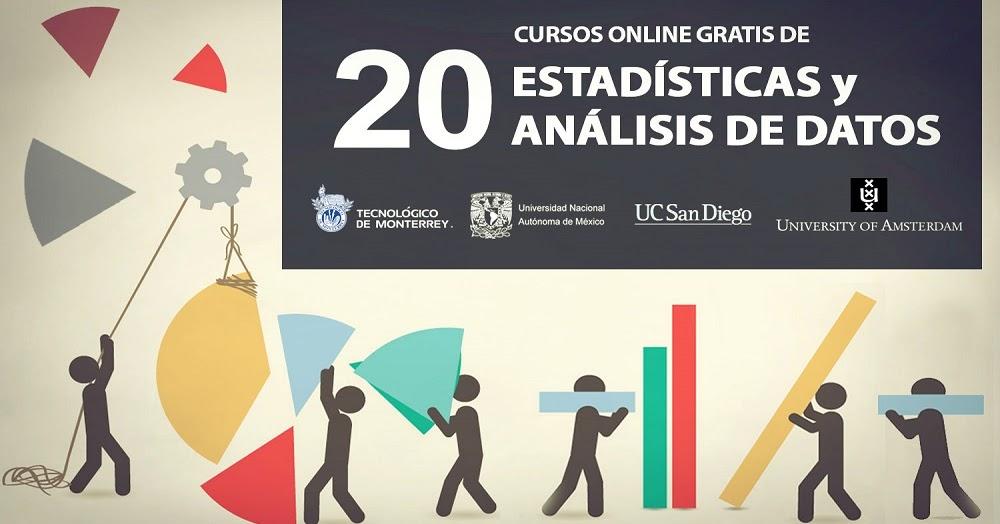 20 cursos gratis de Estadísticas y Análisis de datos