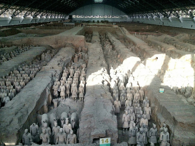 Pit 1 containing the terracotta warriors, Xi'an, China