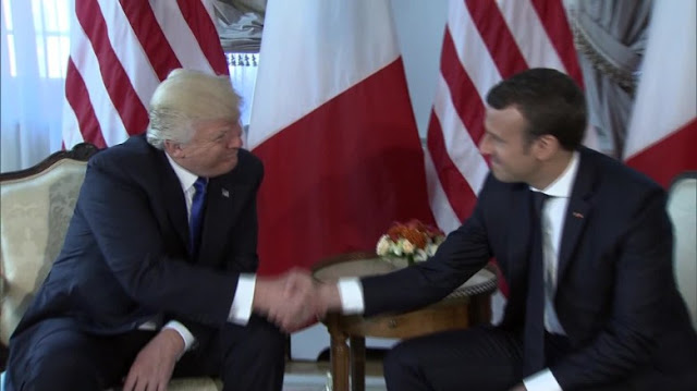 Trump meets with Macron