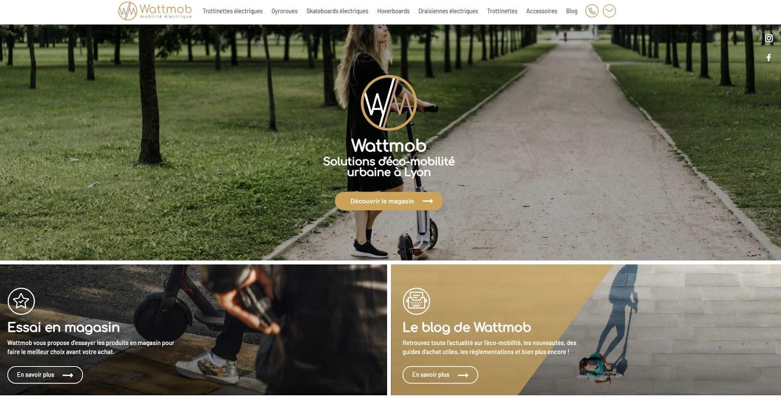 Wattmob Lyon trottinette électrique