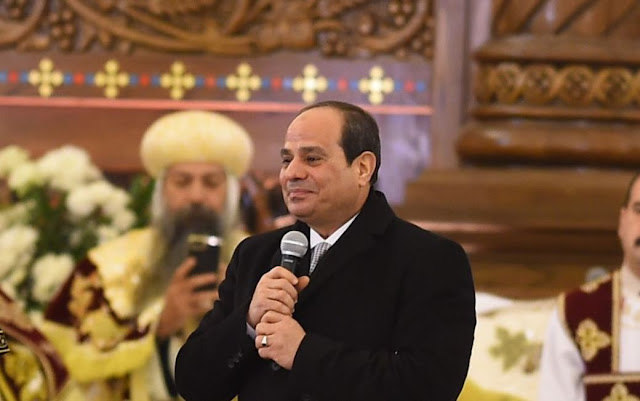 مساء dmc - كلمة الرئيس السيسي خلال احتفالات عيد الميلاد المجيد بكاتدرائية ميلاد المسيح