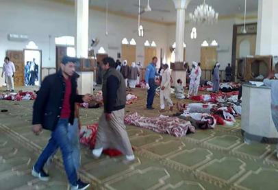 200 قتيل في هجوم ارهابي على مسجد بسيناء