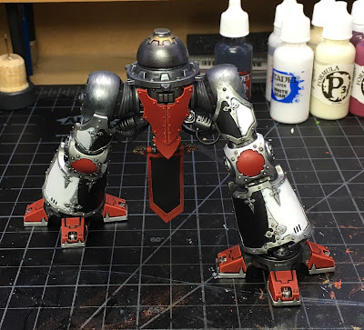 House Taranis Questoris Mechanicus Knight Paladin WIP legs, front