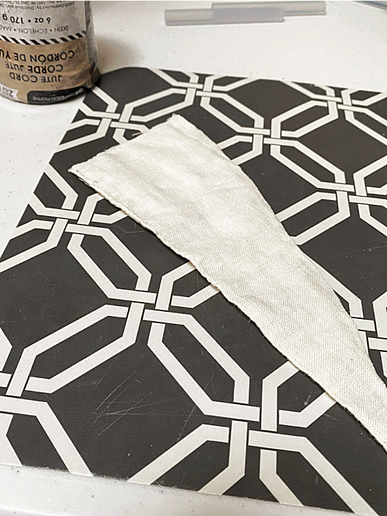 curtain fabric cut into trianges