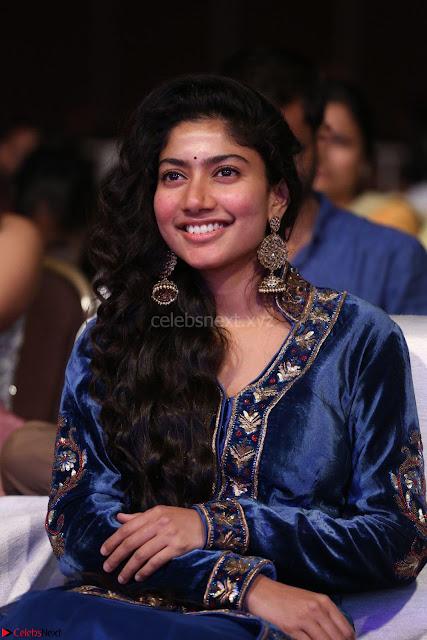 Beautiful Cute Sai Pallavi in dark Blue dress at Fidaa music launch  Exclusive Celebrities galleries 002.JPG