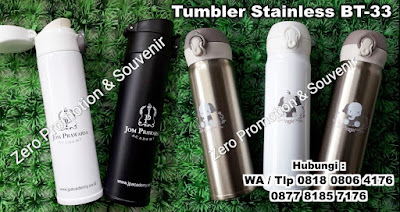 Jual Souvenir Tumbler Stainless / Botol Minum BT-33 | Barang Promosi, Mug Promosi, Payung Promosi, Pulpen Promosi, Jam Promosi, Topi Promosi, Tali Nametag