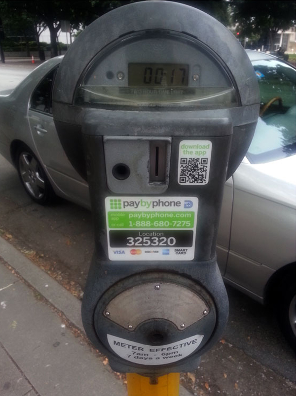 QR Code Parking Meter using PayByPhone.com – the most convenient way to pay for parking