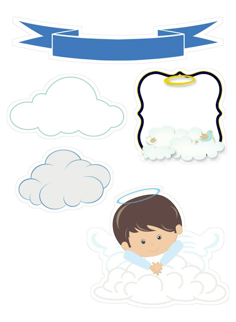 Hidden in Clouds Angel: Free Printable Toppers