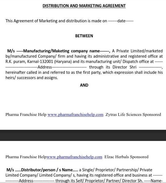 Marketing Agreement Sample