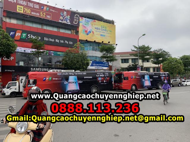 Dịch vụ quảng cáo trên xe buýt giá rẻ