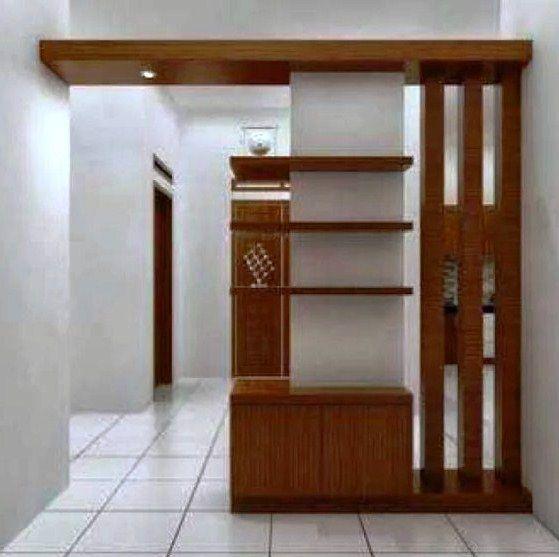 40 model partisi ruang tamu minimalis modern sekat kaca