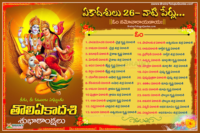 significance of 26 Ekadashi names and details in telugu,Ekadashi Information In Telugu Vishnu HD Images With Information Vishnu108 Images Pictures Sayana Ekadashi Telugu Information With Beautiful Vishnu Pictures Sayana Ekadashi 14-07-2016 Information Pooja Vidhanam In Telugu Hindu God Vishnu HD Images Information Of Hindu God Vishnu Sayana Ekadashi Online Sayana Ekadashi Information Spiritual God Vishnu Ekadashi Information Hindu God Vishnu's Sleeping Time Called Sayana Ekadashi Information With High Quality Picture God Vishnu Sayana Ekadashi Information 2016 Vishnu's Sayana Ekadashi's Information Pictures In Telugu.Here is Toli Ekadashi quotes Greetings wishes wallpapers images pictures in telugu, Toli Ekadashi wallpapers in telugu, Best Toli Ekadshi Greetings in telugu, Top Ekadashi Quotes with imges, Lord shri Maha Vishnu Images, Toli Ekadashi greetings in telugu, Toli Ekadashi shubhakankshalu, Toli Ekadashi Information in Telugu, Shayanaika Ekadashi Images wallpapers pictures greetings wishes in telugu,26 Ekadashi names and details in telugu, Ekadashi pErlu vaati vivaramulu, Toli Ekadashi shubhakankshalu, Toli Ekadashi greetings in telugu, Toli Ekadashi information in telugu, Ekadashi names and list in telugu
