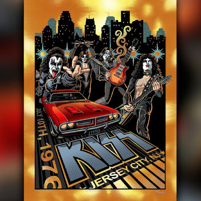 "KISS ""July 10,1976 Jersey City"" Screen Print by Justin Hampton x ECHO"