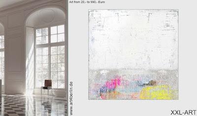Mit junger Kunst, großen Acrylbildern auf dem direktesten Weg zum modernen Wohnen und Leben!