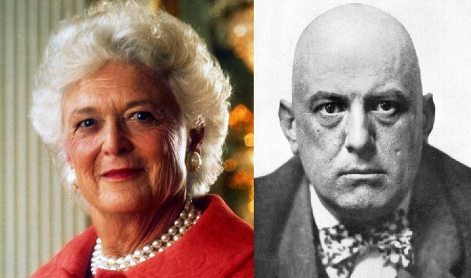 Barbara Bush/Aleister Crowley