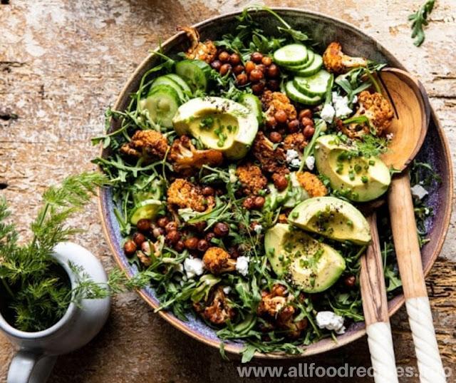 Grilled Cabbage Salad & Honey Mustard Cream