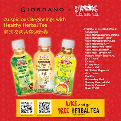 Hung Fook Tong Malaysia Free Herbal Tea Giveaway Giordano