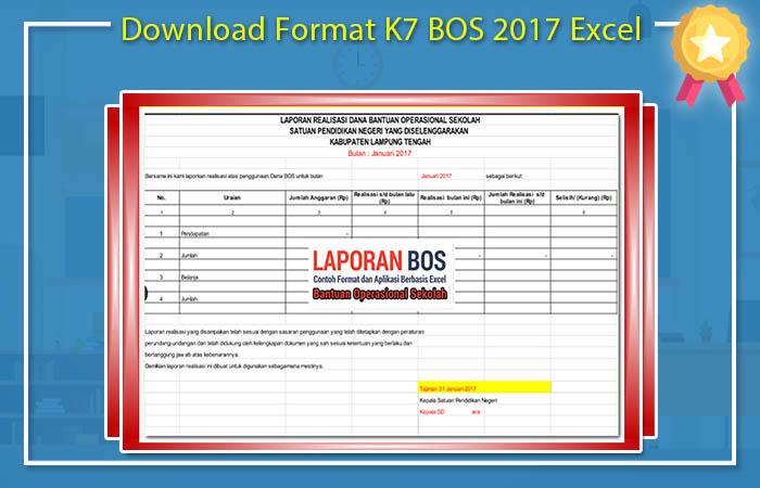 Download Format K7 BOS 2017 Excel