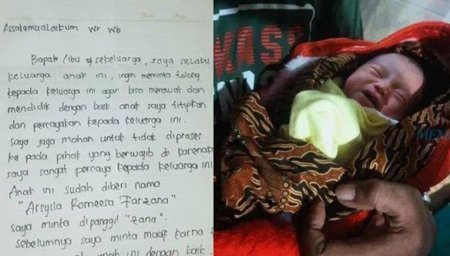 Bayi Dibuang Malam-malam di Surabaya, Ada Surat Isi Nama dan Minta Tolong Anaknya Dirawat