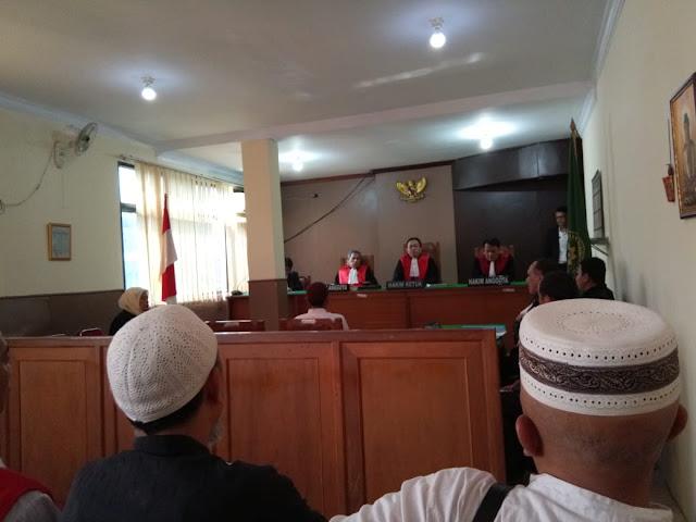 Sidang Kedua Kasus Ustadz Sodikin, Saksi Pelapor Malah Mangkir