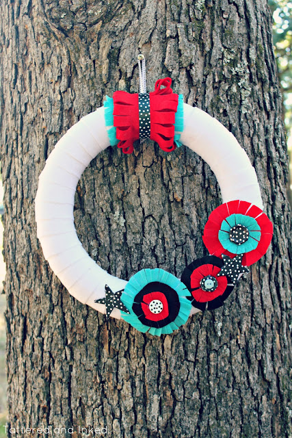 diy wreath {the 4th of July}