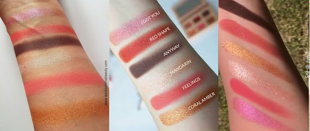 nabla coral mini palette dupe swatches