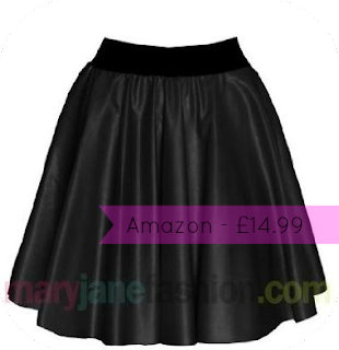 da850b0443 This Mary Jane Fashion high waisted. faux leather skater skirt has been on  my list for a while. It looks lovely and i think these skirts are so on  trend and ...