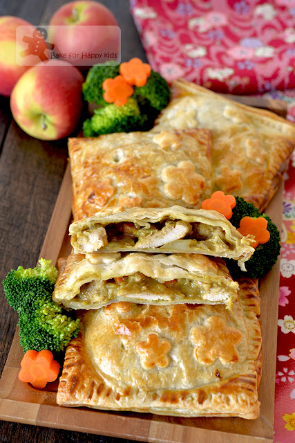 sweet Japanese curry chicken puff pastry pies